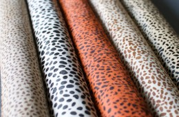 Printed Leopard Patterns on Cow Hides
