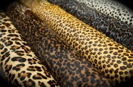 Printed Leopard Patterns on Cow Hide