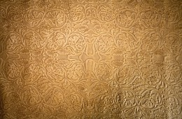 Pista Batik Cream – (Cow Embossed Flower Pattern Leather)