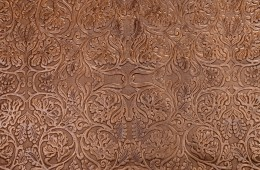 Pista Batik Brown – (Cow Embossed Flower Pattern Leather)