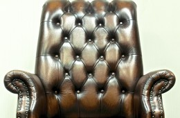 Executive Leather Chair (Category B Leather – Chesterfield Brown)